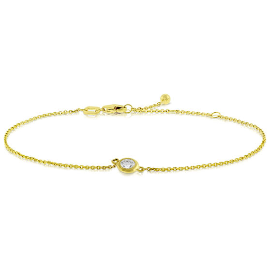 Bezel Set Diamond Bracelet 14K, 1/4 ct.