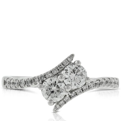 Ever Us™ Two Stone Diamond Ring Featuring Signature Forevermark Diamonds 18K