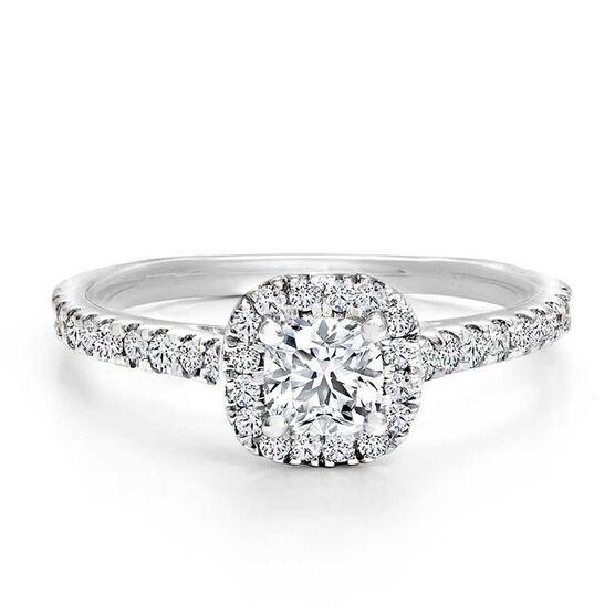 Forevermark Black Label 1/2 ct. Cushion Cut Diamond Engagement Ring 18K