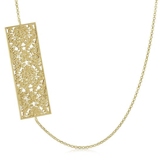 "Toscano Rectangle Necklace 14K, 24"""