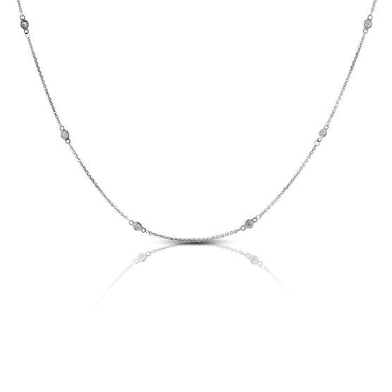 Diamond Station Necklace 14K