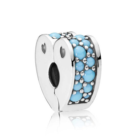Pandora Arcs Of Love Blue Crystal Clip 797227nya Ben