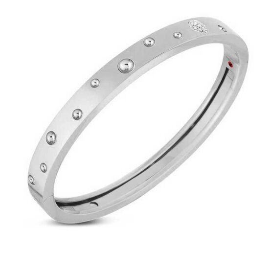 Roberto Coin Pois Moi Luna Diamond Bangle 18K