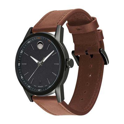 Movado Museum Sport Strap Gunmetal & Black PVD Watch