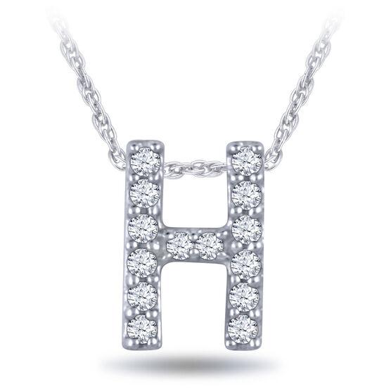 Diamond Initial Pendant 14k Letter H Ben Bridge Jeweler