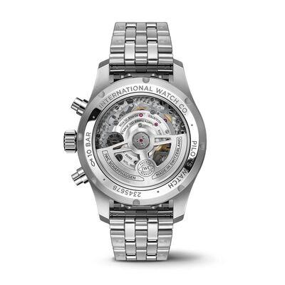 IWC Pilot's Watch 41 Blue Dial Steel Chronograph, 41mm