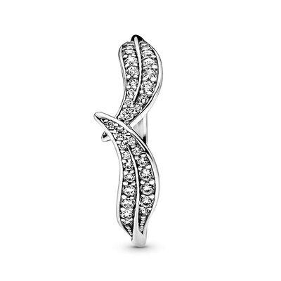 Pandora Sparkling CZ Leaves Ring