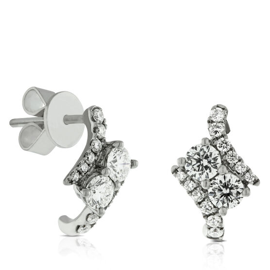 Ever Us™ 2-Stone Diamond Earrings Featuring Signature Forevermark Diamonds 18K