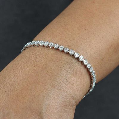 Diamond Halo Bracelet 14K, 3 ctw.