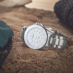 Hamilton Khaki Navy Scuba White Steel Quartz Watch, 37mm