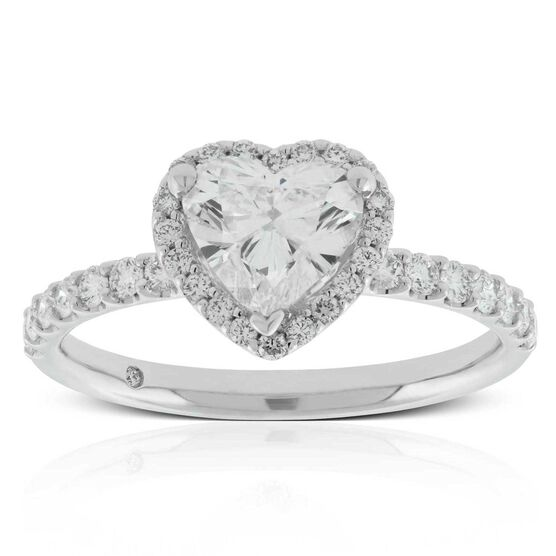 Diamond Heart Ring 14K, 1 ct. Center