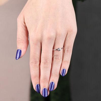 Signature Forevermark Black Label Square Diamond Ring 18K