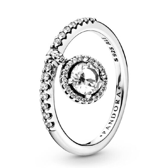 Pandora Dangling Round Sparkle CZ Ring