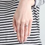 Channel Set Diamond Ring in Platinum, 3/4 ctw.