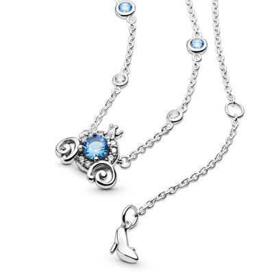Pandora Disney Pumpkin Coach Collier Crystal & CZ Necklace