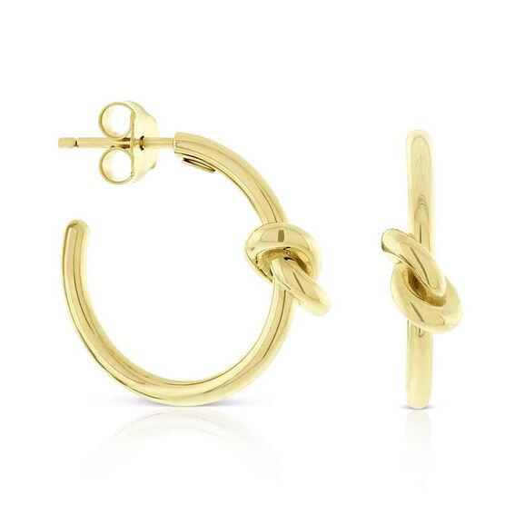 Toscano Love Knot Hoop Earrings 14K