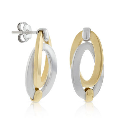 Toscano Double Link Oval Earrings 18K