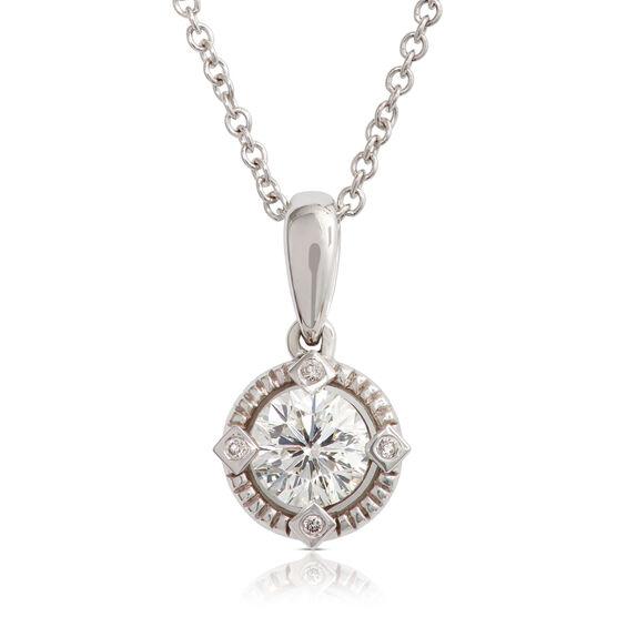 Signature Forevermark Diamond Pendant 18K, 1/2 ct.