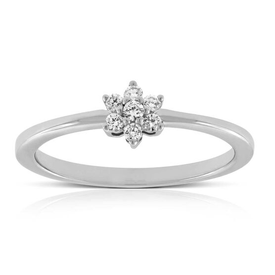 Flower Diamond Promise Ring 14K