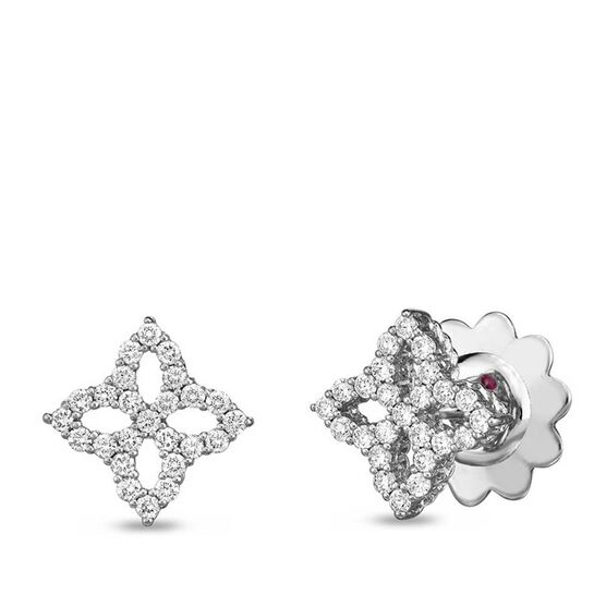Roberto Coin Princess Small Flower Diamond Stud Earrings 18K