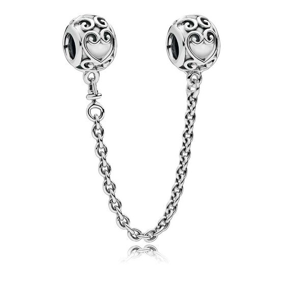 Pandora Enchanted Heart Safety Chain