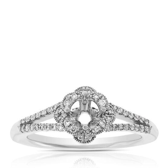 Diamond Semi-Mount Ring 14K