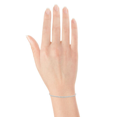 Diamond Bolo Bracelet 14K, .95 ctw.