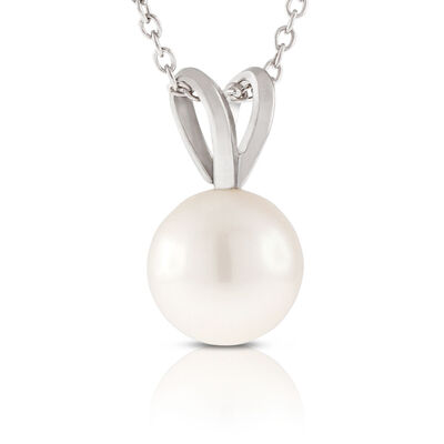 Akoya Cultured Pearl Pendant 7mm, 14K