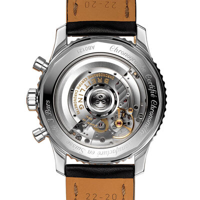 Breitling Navitimer B01 Chronograph 43 Black Leather Watch, 43mm