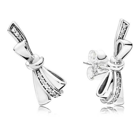 PANDORA Brilliant Bow CZ Stud Earrings