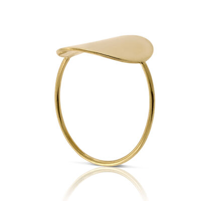 High Polished Circle Ring 14K