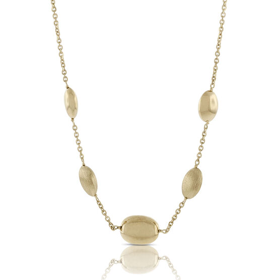 Toscano Pebble Station Necklace 18K