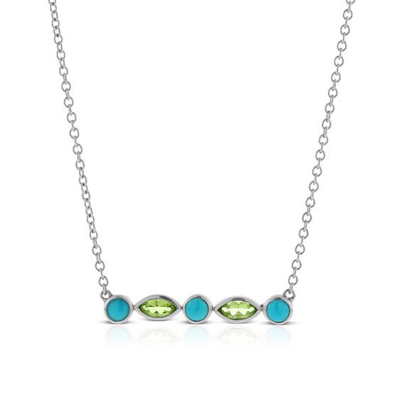 Lisa Bridge Turquoise & Peridot Necklace