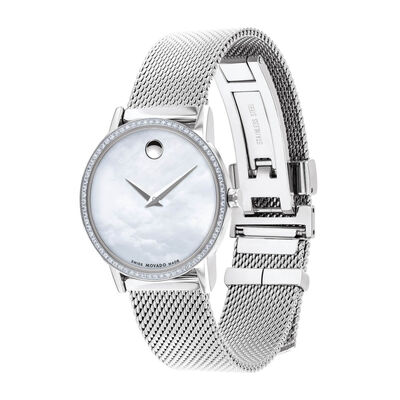 Movado Museum Classic Mother of Pearl & Diamond Watch