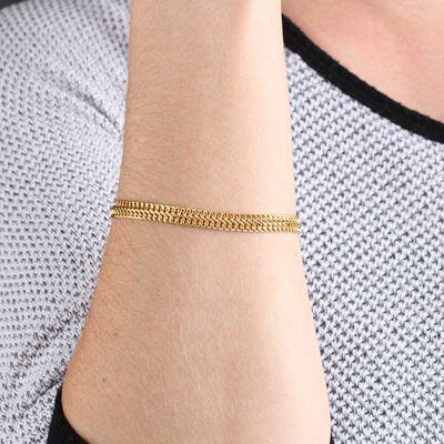 Flat Curb Bracelet 14K