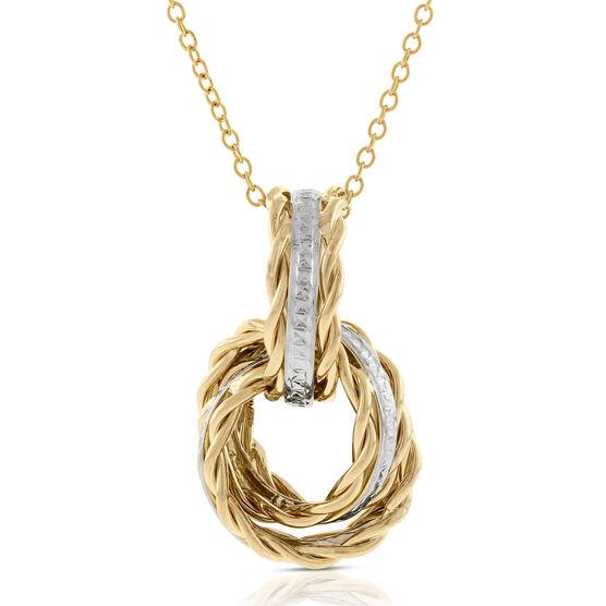 Toscano Rolling Knots Pendant 14K