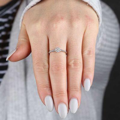 Cluster Diamond Ring 14K