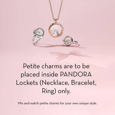 PANDORA Enamel  Pink Heart Petite Locket Charm