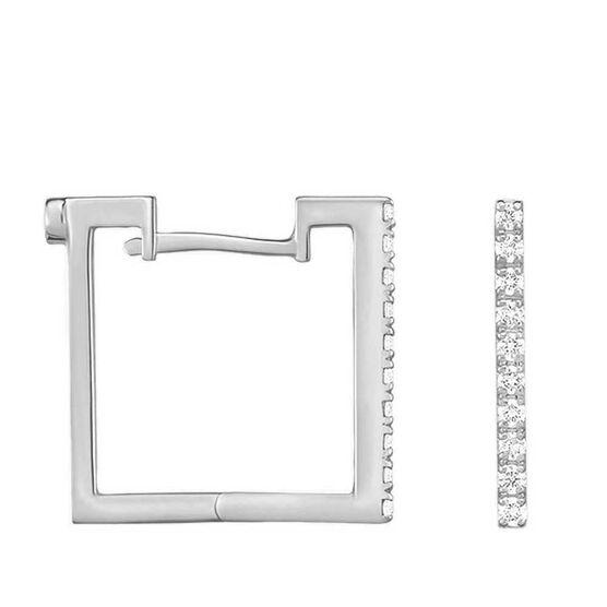 Roberto Coin Perfect Diamond Square Hoop Earrings 18K
