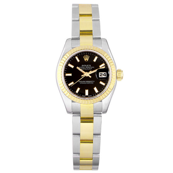 Pre-Owned Rolex Oyster Perpetual Lady-Datejust Watch, 26mm, 18K & Steel