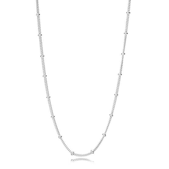Pandora Silver Beaded Necklace Chain