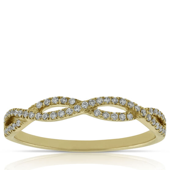 Braided Diamond Band 14K