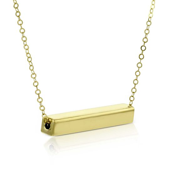 Sliding Cube Bar Pendant 14K