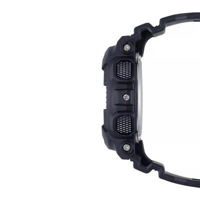G-Shock S-Series Black Strap Gray Dial Watch, 49mm