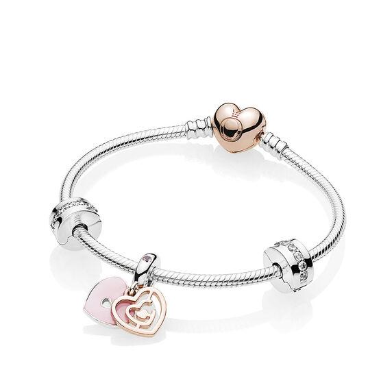 PANDORA Fun in Love Bracelet Gift Set, PANDORA Rose™ & Silver