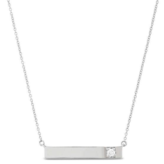 Ikuma Canadian Diamond Bar Necklace in Sterling Silver