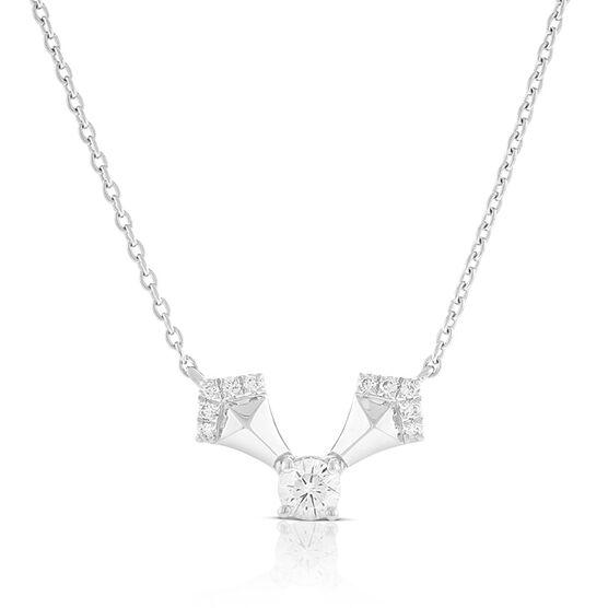 "Jade Trau for Signature Forevermark Diamond ""V"" Swing Necklace in Platinum"