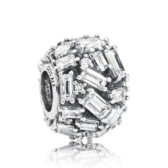 Pandora Chiselled Elegance CZ Charm