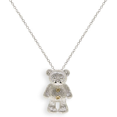 2009 Benny Bear Pendant in Sterling Silver & 14K