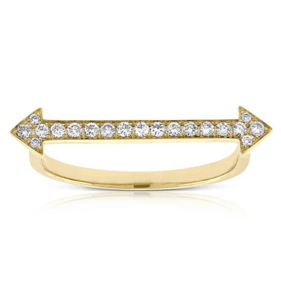 Straight Arrow Diamond Ring 14K